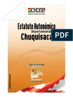 Estatuto Autonómico Chuquisaca