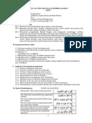 Rpp Kelas 6 Bab 1 Editpdf