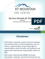 Service and the ADA