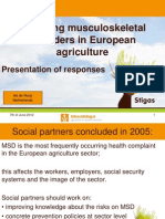 Reducing musculoskeletal disorders in European agriculture