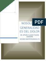 Terminología y Taxonomía Del Dolor
