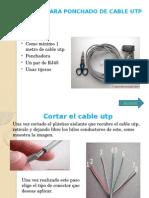 Pasos Para Ponchado de Cable Utp