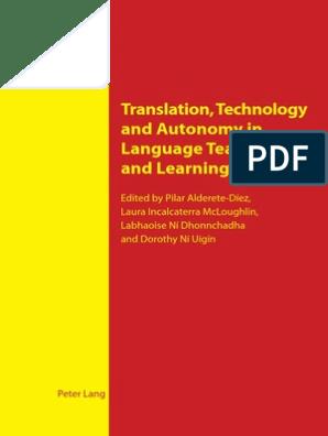 Translation Technology And Autonomy In Language Teaching