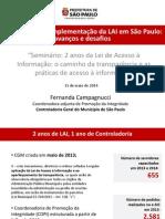 Um balanço da implementação da LAI em São Paulo