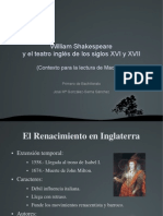 William Shakespeare y El Teatro Inglés De