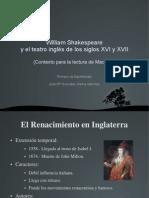 William Shakespeare y El Teatro Inglés De