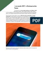 Restauración Un iPad o iPhone