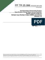 3GPP TR 25.996 V12.0.0 (2014-09)