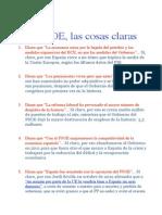 Al PSOE, Las Cosas Claras