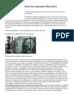 Devaluacion Del Bolivar En Venezuela Mayo 2013