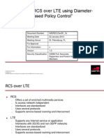 RCS Over LTE Using Diameter Based Policy Control