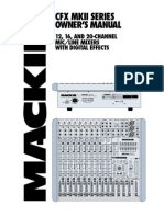 Mackie CFX Owner's Manual