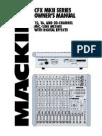 Mackie CFX Owner's Manual