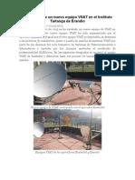 Instalación de Un Nuevo Equipo VSAT en El Instituto Tartanga de Erandio