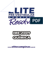 IME 2009 Química Gabarito Elite Vestibular