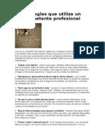 Las 10 Reglas Que Utiliza Un Incompetente Profesional