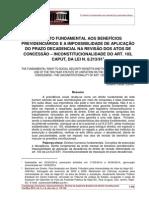 Artigo - Direito Fundamental à Previdência Social e o Prazo Decadencial Para Revisão