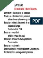 Tema 1 estructura Proteínas