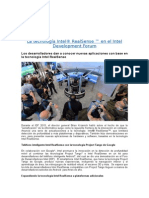 La tecnología Intel® RealSense T en el Intel Development Forum