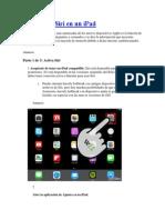Cómo Usar Siri en Un iPad