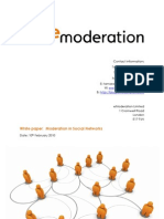 Moderation in Social Networks