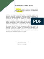 1. Modelo Politica SST
