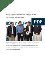 27-08-2015 Ángulo 7 - RMV y Esparza Encabezan Entrega de Mil 950 Tablets en Teziutlán