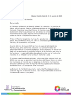 Carta gobierno de Morelos