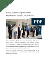 27-08-2015 Ángulo 7 - RMV y Esparza Inauguran Edificio Multiaulas en Teziutlán; Costó 46 Mdp