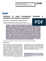 Evolution of waste management strategies in industries