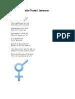 Adopting Gender-Neutral Pronouns