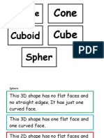 3 d Shapes True or False