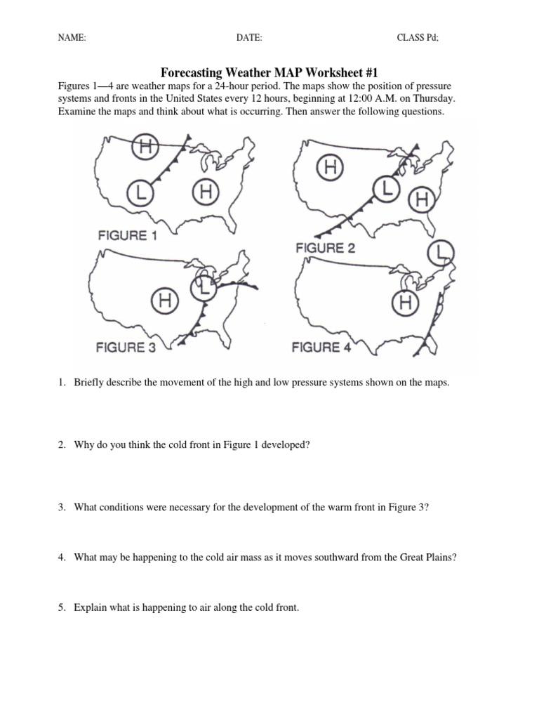 worksheet Air Masses Worksheet ws forecasting weather map 1 5 pdf atmospheric circulation