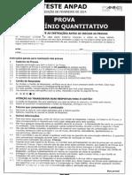 Prova de Raciocinio Quantitativo Fevereiro 2014