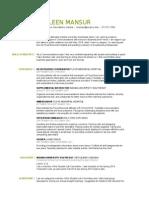 Green Resume Aug 2015