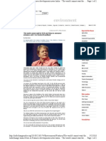 The World Cannot Wait for USA and China to Announce Cuts- Gro Harlem Brundtland - InfoChange News