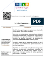 The petroleum industry - La industria petrolera