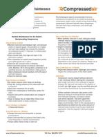 Compressor Checklist