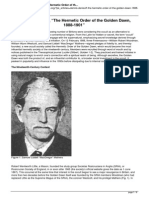 Dennis Denisoff the Hermetic Order of the Golden Dawn 1888-1901