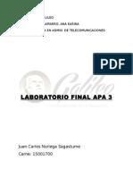 Laboratorio Final Apa3
