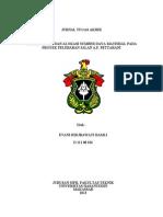 PENJADWALAN DAN ALOKASI SUMBER DAYA MATERIAL PADA PROYEK PELEBARAN JALAN A.P. PETTARANI