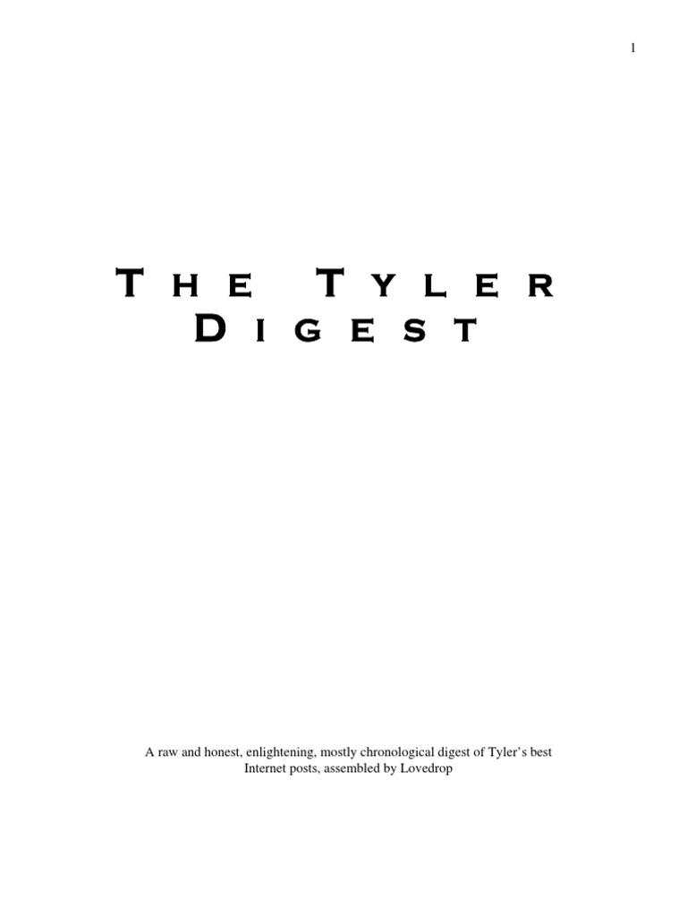 Blueprint decoded notes tyler durden the tyler digest malvernweather Gallery