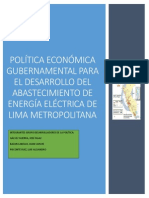 Politica Economica Gubernamental Para El Abastecimiento de Energia en Lima Metropolitana