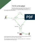 Effect of TCP SACK on Throughput