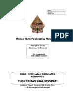 Sampul Manual Mutu