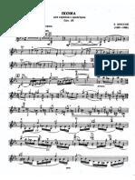 Chausson Poeme for solo violin