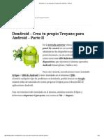 Dendroid - Crea Tu Propio Troyano Para Android - Parte II