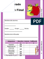 4to Grado - Examen Final.doc
