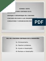 Rol del coaching centrado en el desempeño