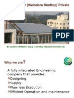 Vadodara Solar Rooftop Programme PPT